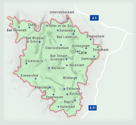 Karte Kreis Calw